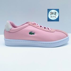 Lacoste Masters Leather and Suede Snk Women Sz 8